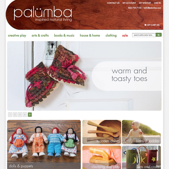 Palumba, a division of Camden Rose, specializes in natural, non-toxic toys and home goods, safe art supplies, and Steiner books.