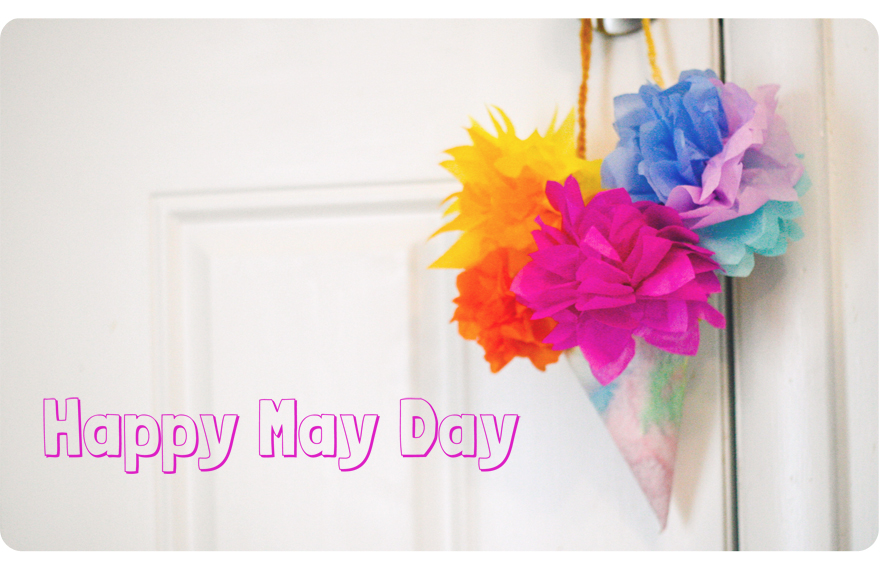 May Day flower craft inspired by Around the Year, a seasonal story by Elsa Beskow, at Palumba natural, non-toxic toys, art supplies, and Steiner books.