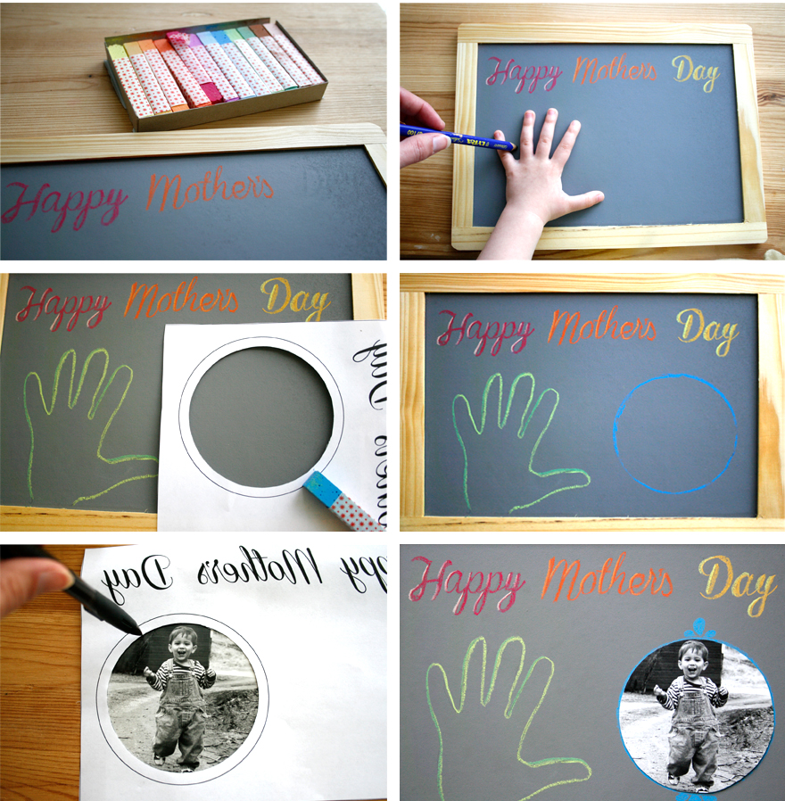 Mercurius chalk and a simple wood-framed blackboard are the ingredients for a sweet and practical Mother's Day gift, from Palumba natural, non-toxic toys and art supplies.